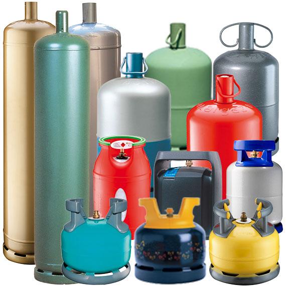 Types de bouteilles de gaz